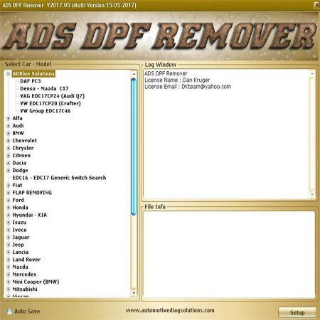 Professionale DPF+EGR REMOVER 3.0 Lambda Hotstart Flap,O2, DTC 2 Software Full 2017.5 version