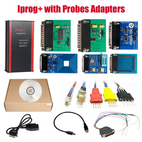 V83 Iprog+ Pro Programmer with Probes Adapters for in-circuit ECU Free Shipping